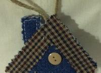 denim ornaments / old jeans reusing