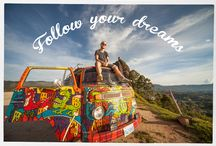 Hippie Van Man Road Trip; Quotes & Motivation / My favorite photos from my Pan-American road trip from Canada to Chile. With some motivational quotes added for good measure.