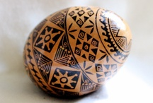 Brown pysanka / Писанки на коричневых яйцах