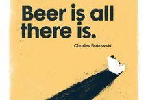 Charles Bukowski Beer Poster