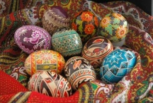 Painted and Decorated Eggs / Decorated eggs and egg-shaped art / craft works. From ancient times eggs were associated with birth, rebirth, fertility, spring.