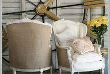 Burlap crafts and decor