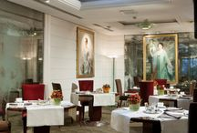 Sapori Restaurant / www.lordbyronhotel.com Dining at the world famous Sapori del Lord Byron Restaurant is a memorable occasion. Carefully balancing a convivial atmosphere with a reserved ambience to ensure an exclusive 'mise en place' venue. The elegant Art Deco design transports guests to a bygone era whilst art lovers are able to feast their eyes even as they satisfy their palate with haute cuisine. / by Hotel Lord Byron Roma