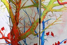 Room Dividers / Uniquely designed for you, beautiful hand painted room dividers or screens for your home or office. Made of three large canvases, acrylic paint accompanied by beautiful metal hinges. Painted on both sides. Signed by the artist accompanied by a certificate of authenticity. Pre order yours today, simply send us an email at enquiry@maiterodriguez.es and tell us your design