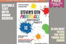 Paintball Party Ideas and Printables