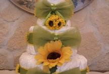 TORTE DI PANNOLINI / torte fatte con i pannolini, un regalo originale per mamme in dolce attesa
