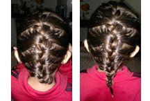 Penteados / Penteados que faço em minhas pequenas