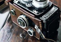 Aparaty fotograficzna na kliszę.