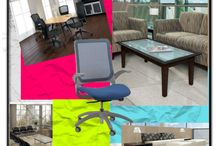 Cool Furniture and Seating Collages / Super stylish modern office furniture and office chairs for the home or business highlighted in collages for inspiration!