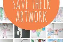 Ideas for saving kids art