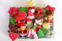 Galletas de navidad / Galletas realizadas con esencia de vainilla y decoradas con fondant de varios colores.
