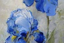 Festmény virág