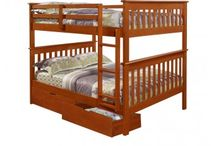 FULL OVER FULL BUNK BEDS / Mom's Bunk House is proud to carry a carefully curated collection of Full Over Full Bunk beds for Kids. Great for boys or girls, our children's bunk beds are available in a range of designs from leading brands.