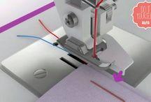 Dobladillo con la máquina de coser