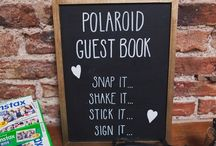 signage for photo guest book