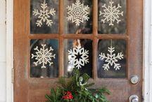 christmas paper windows decoration