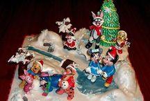 Disney / Decorazioni personaggi Disney in pasta di zucchero