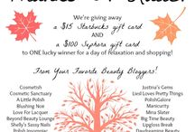 Giveaways! / Find out all the latest and greatest giveaways I am currently hosting on my blog.
