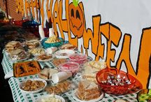 Halloween food. / Easy Halloween decorations for our class!