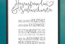"""Kunstdrucke """"Sprüche"""" / Kunstdrucke / Poster für Familien, Freunde, Kinder...."""