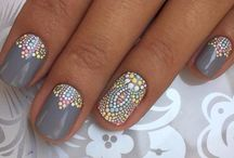 Nail decors / Gris motif maroc