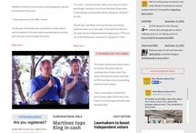 Our front pages / Front pages of our website