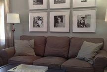 Vegg over sofa