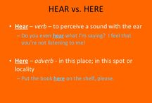 Hear vs. HERE