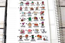 Wacky Holiday stickers