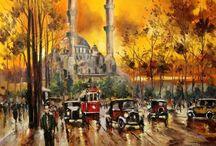istanbul yağlıboya