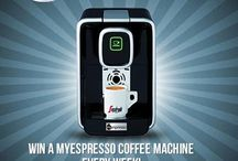 Win a MyEspresso coffee machine! / Every week we're giving away 1 MyEspresso coffee machine valued at $190! You can enter here: http://bit.ly/1837p3I