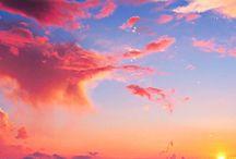 Csodálatos felhők és a víz szépsége