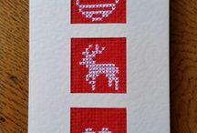 handmade cards / Silk embroydery, cross stich