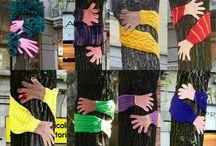 Yarn bombing à l'école