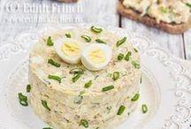 salată de ouă cu ton