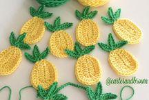 Crochê frutas