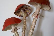 Paper mushrooms 2 / Book pages