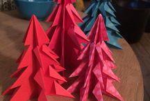 Christmas orgami trees / Juletræer foldet af papir fra Tiger