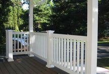 Balkong och trapp