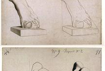 Dibujo / Tecnicas de dibujo, figura humana y objetos varios.