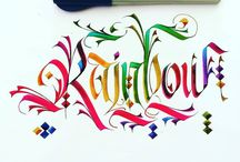 artistic calligraphy / beautiful letters and inspirational letters