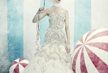 Circus bridal shoot