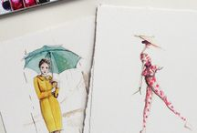 Paperfashion  / Lovely drawings by Katie Rogers