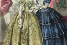 1850s Fashion - Antebellum fashion / Fashion plates, dresses, accessories, bonnets... everything from the 1850s fashion