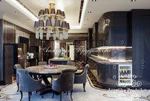 Дизайн проект интерьера квартиры в стиле Ар Деко на Большой Пироговской / Интересный дизайн квартиры разработан студией Анжелики Прудниковой. Все комнаты на Большой Пироговской выполнена в стиле Ар Деко. В интерьере гостиной, спальни и коридора имеются современные идеи и решения в области увеличения пространства и естественного света. Важно, что квартира совсем не перегружена декором и располагает к спокойной беседе.