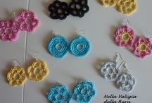 chiacchierino o crochet / orecchini bracciali e anelli
