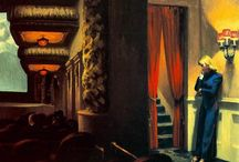 Edward Hopper / was a American realist painter and printmaker. While he was most popularly known for his oil paintings, he was equally proficient as a watercolorist and printmaker in etching.His spare and finely calculated renderings reflected his personal vision of modern American life.