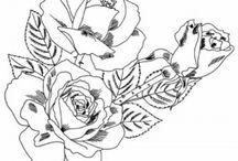 Drawings for silk / Рисунки для росписи шелка