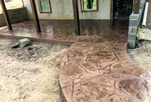 Custom Concrete Walkways / Add some character to your entrance with a custom concrete walkway; we can support the design and implementation to meet your needs.