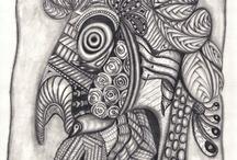 My Doodle /zentangle / by Dializ arts